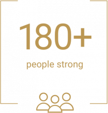 180 people strong