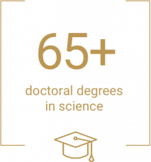 65 doctoral degrees